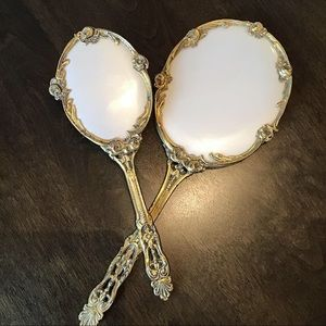 Beautiful antique / vintage brush and mirror